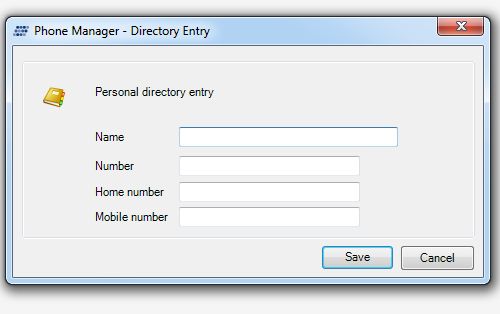 how to add a contact to the personal directory on xarios phone manager